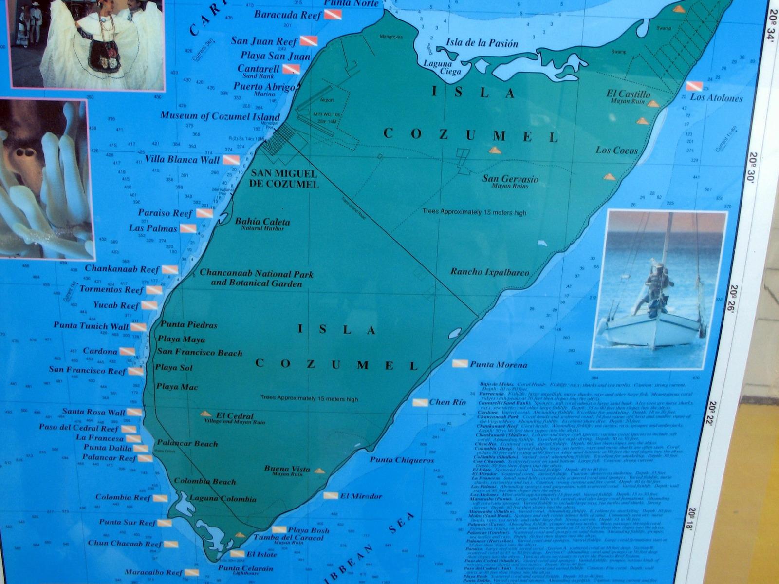 Jespers photo site - Cozumel dive sites ...